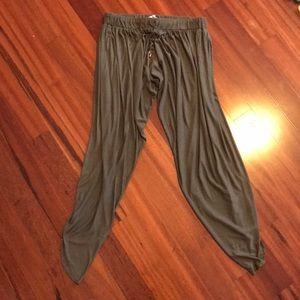 Haute Hippie cropped harem pants